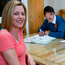 Rebecca Hemeryck with her sons Sam (15), who is studying for his Junior Cert, and Tom (18), who is preparing for his Leaving Cert, at their home in Coolquay, Co Dublin. Photo: Arthur Carron