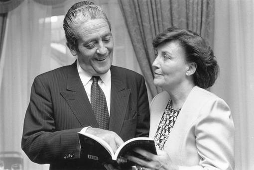 Ann Lenihan and her husband Brian Snr at the launch of a book she co-wrote in 1990 (Independent Newspapers Ireland/NLI Collection).