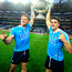 Dublin's Paul Flynn, left and Bernard Brogan lifts the Sam Maguire after victory over Mayo Picture: Damien Eagers