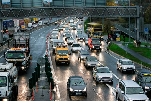 Motorists on the M50 are warned to expect delays due to collision