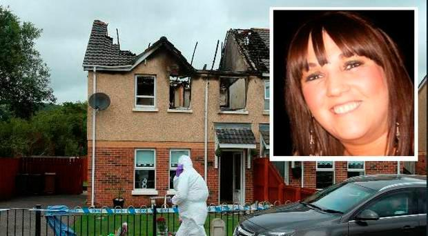 Jennifer Dornan (inset) and the extensive damage done to her home