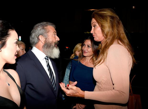 Director Mel Gibson (L) and Caitlyn Jenner attend the screening of Summit Entertainment's