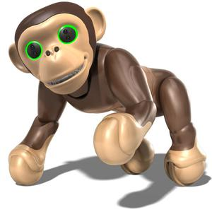 Zoomer Chimp: The robotic pet, responds to voice commands and can learn up to 100 tricks, and unlike a real monkey, comes without the mass clean-up RRP Smyths Toys: €109.99