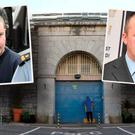 Cork Prison and Brian Veale (left) Graham Johnson (right)