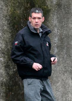 Eddie Hutch Jnr (41) pictured after appearing at the Dublin District Court on charges of motoring and shop theft offences. Pic Collins Courts.