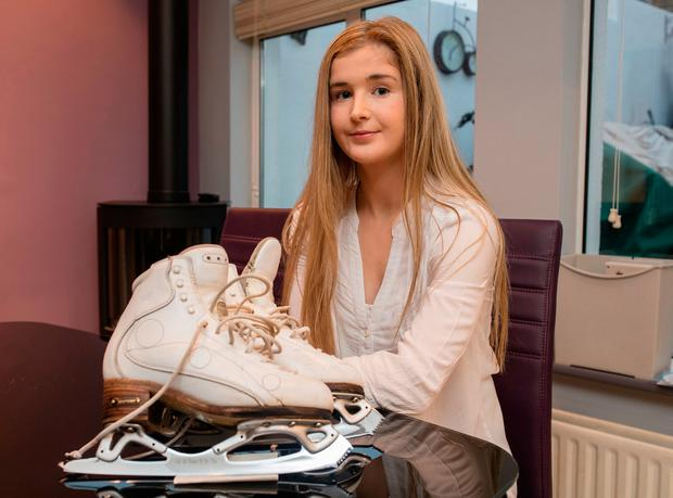Ice skater Fianait Bligh, who is heading off to Canada for training, at her home in Glasnevin. Arthur Carron