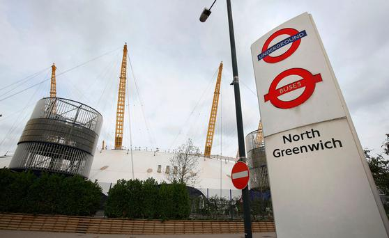 North Greenwich tube station Credit: Philip Toscano/PA Wire