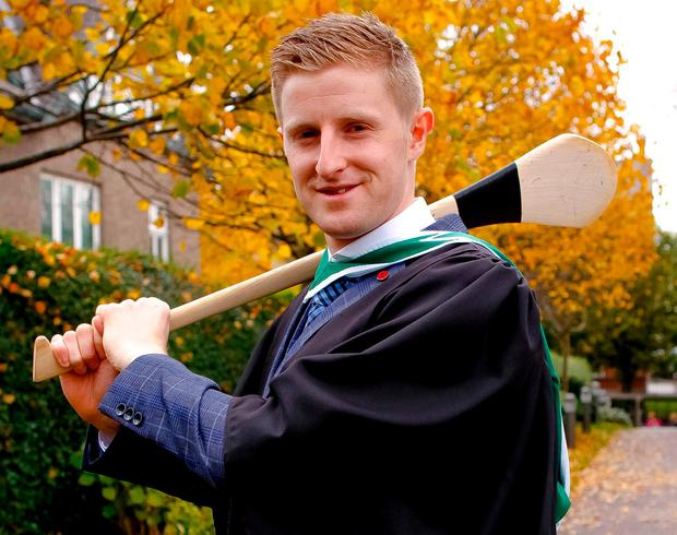 Kilkenny hurler John Power, who also graduated with an arts degree. Photo: Emmet Curtin
