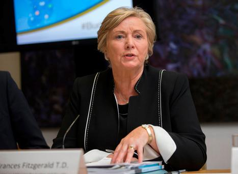 Justice Minister Frances Fitzgerald's department would not comment on whether gardaí would be paid during the industrial action. Photo: Fergal Phillips