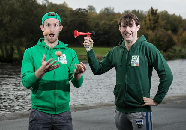 Paul And Gary O'Donovan Team Up With Bord Bia To Launch Bord Bia Quality Assured Eggs, UCD Rowing Club, Islandbridge, Dublin 26/10/2016 Pic: INPHO/Dan Sheridan