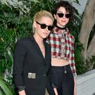 Actress Kristen Stewart and musician Annie Clark of St. Vincent at the CFDA/Vogue Fashion Fund Show and Tea presented by kate spade new york at Chateau Marmont on October 26, 2016 in Los Angeles, California. (Photo by Stefanie Keenan/Getty Images for CFDA/Vogue )