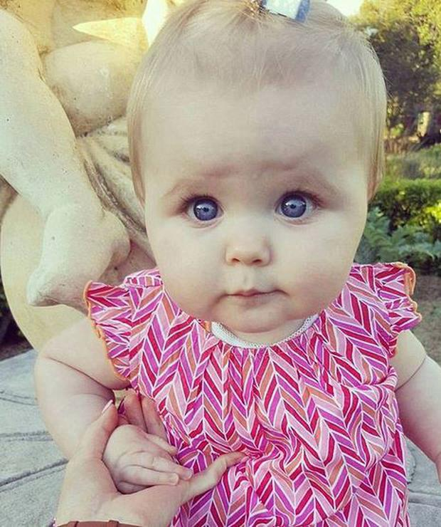 Baby Francesca is now 7-months old