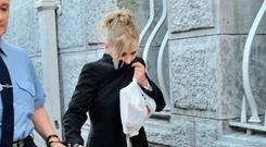 Rachel Crawshaw pictured at Cork Circuit Court in relation to the unlawfull killing of John Palmer (37) and Greg Lonergan (36), at Granary Court, St Joseph's Road, Mallow Pic Cork Courts Limited