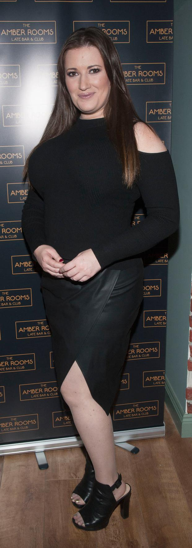 Elaine Crowley wows in a little black dress at the opening of The Amber Rooms. Picture: Patrick O'Leary