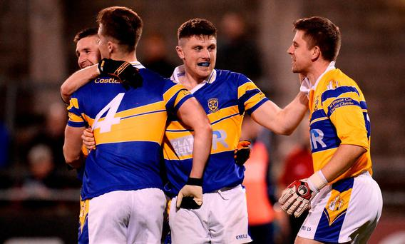 Castleknock celebrate following win over St. Judes