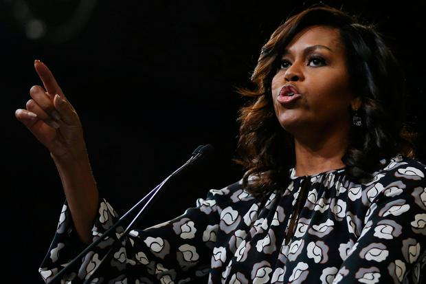 U.S. first lady Michelle Obama speaks during a campaign rally in support of U.S. Democratic presidential nominee Hillary Clinton in Winston-Salem, North Carolina, U.S., October 27, 2016. REUTERS/Carlos Barria