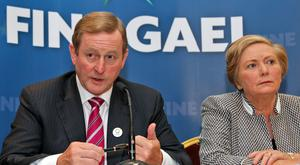 Taoiseach Enda Kenny and Tánaiste Frances Fitzgerald Picture: Collins