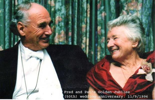 Frederick (Fred) Norman Lee pictured with his wife Pat on their Golden Jubilee