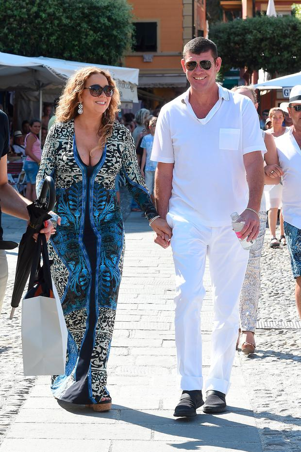 Mariah Carey And James Packer are seen on June 26, 2015 in Portofino, . (Photo by Photopix/GC Images)