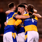 Castleknock celebrate their semi-final win over St Jude's