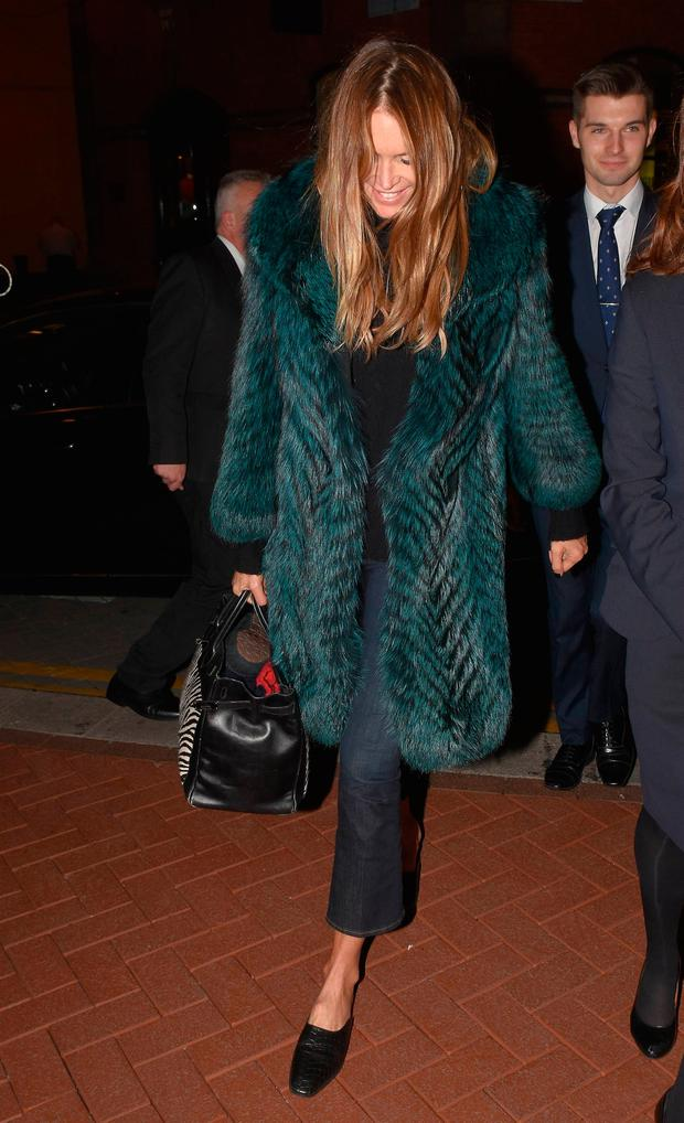 Elle Macpherson seen arriving at The Westbury Hotel