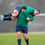 Ireland's Mike Ross and Cian Healy