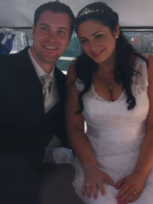 Avril pictured with her husband Kevin on their wedding day, who she said has been a massive support