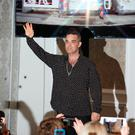 Robbie Williams at the InterContinental Hotel in Dublin. Picture: Kyran O'Brien