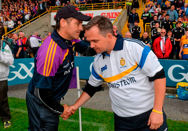 Liam Dunne wanted to continue on as Wexford manager but wishes Davy Fitzgerald – the man who replaced him – every success in the future. Photo: Sportsfile