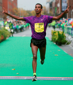 Alemu Gemechu of Ethiopia won the 36th Dublin City Marathon last year Photo: PA