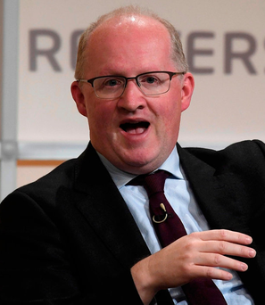 Central Bank Governor Philip Lane speaking in London Photo: REUTERS/Toby Melville