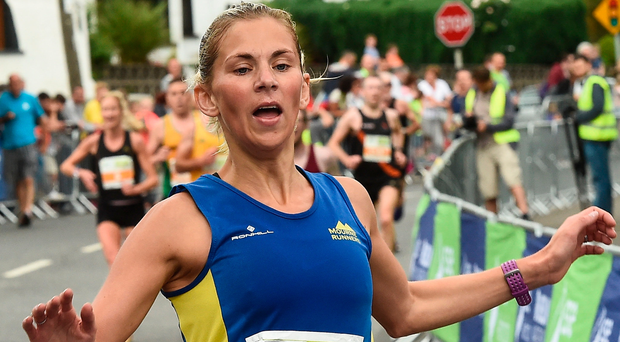 Laura Graham winning the women's Fingal 10k last June. The Mourne Runners athlete shocked herself when she finished last year's Dublin marathon as the third Irish woman home. Picture: Sportsfile