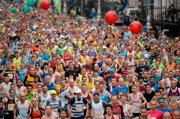 A general view of last year's marathon. Pic: Sportsfile