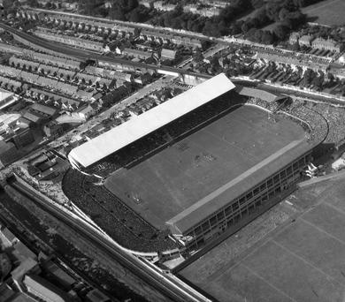 Croke Park in a photo taken on All-Ireland final day, September 23, 1951 Photo: Independent Aerial Photographic Collection
