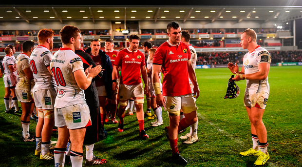 Munster captain Peter O'Mahony following his side's victory in the Guinness PRO12 Round 7 match between Ulster and Munster at Kingspan Stadium
