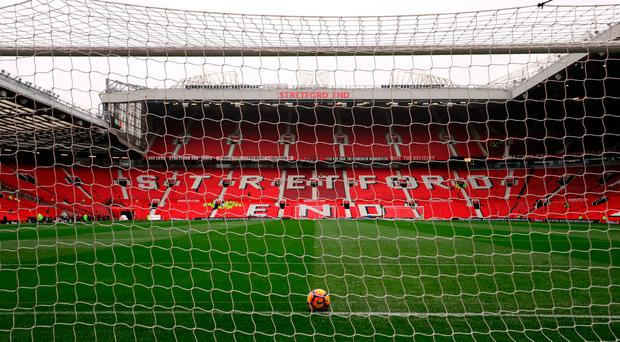 A general view of Old Trafford before Burnley clash