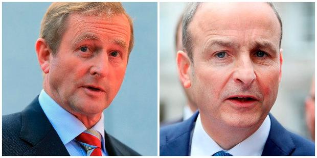 Enda Kenny (left) and Micheal Martin