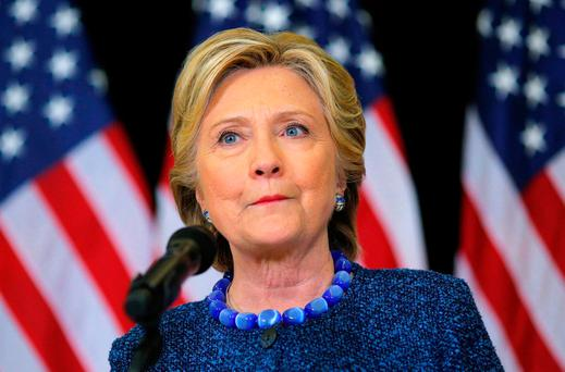 U.S. Democratic presidential nominee Hillary Clinton holds an unscheduled news conference to talk about FBI inquiries into her emails after a campaign rally in Des Moines, Iowa, U.S. Picture: REUTERS/Brian Snyder/File Photo