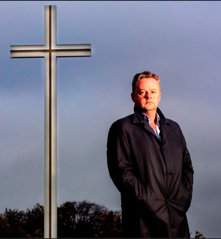 Spiritual: Jody Corcoran at the Papal cross in Dublin's Phoenix Park Photo: David Conachy