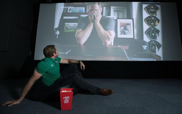 Jamie Heaslip at the launch of 'Irish Rugby: What We Did Last Summer', a documentary commissioned by Vodafone as part of the #TeamOfUs campaign. It will air on RTE One on Thursday, November 10. Photo: Dan Sheridan/INPHO