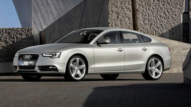 Luxury drive: A total of 581 Audis were imported here last month, with the A5 range up 180pc on last year