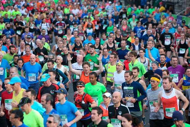 Almost 20,000 people hit the streets of the capital for the Dublin City Marathon (Photo: Damien Eagers)