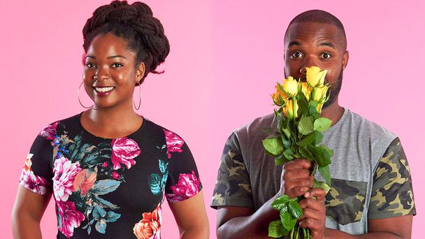 Ibiba and Aarron on First Dates. Picture: Channel 4.