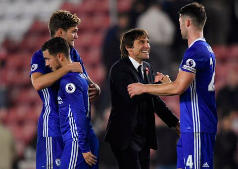 Too early to speak about Premier League title - Conte
