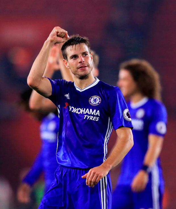 Chelsea's Cesar Azpilicueta after the Premier League match at St Mary's Stadium