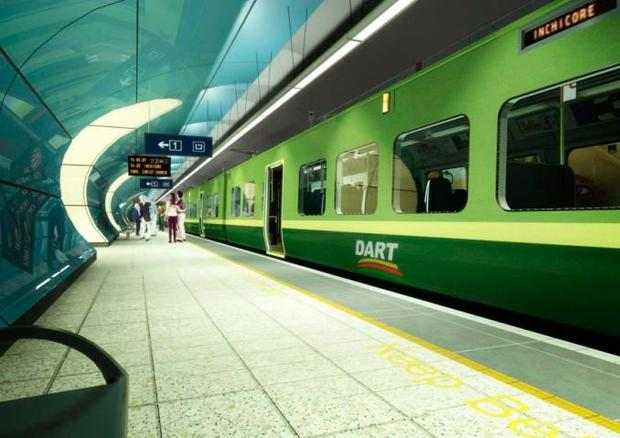 The expansion of the DART originally included an 8.6km tunnel from Inchicore to East Wall with stations at Inchicore, Heuston, Christchurch, St Stephen's Green, Pearse Street and Spencer Dock.