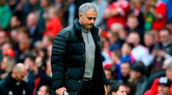 "Mourinho: ""I'm happy with the performance, but when the result should be 5-0 or 6-0 and it is 1-1 then the happiness disappears"". Photo credit: Martin Rickett/PA Wire."