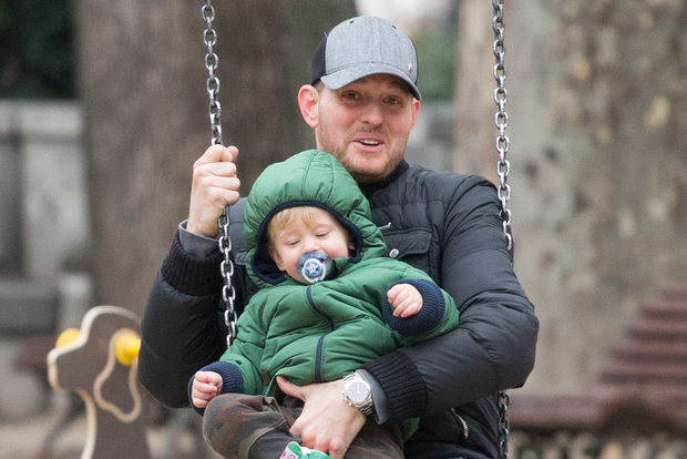 Michael Buble and son Noah.