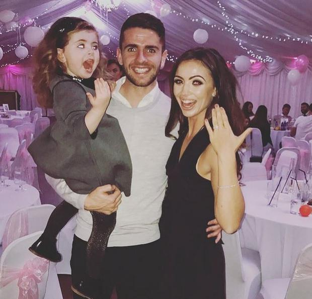 Kerrie Harris and Robbie Brady announced their engagement