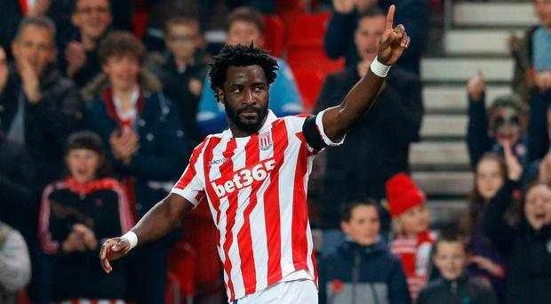 Stoke City's Wilfried Bony. Photo: Reuters / Darren Staples